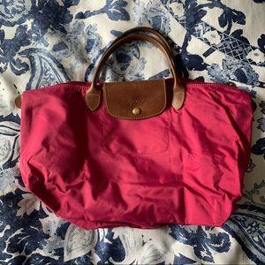 Longchamp Le Pliage pink purse